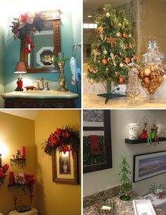 banheiros decorados para o natal