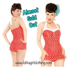 Check out our Catalina Cutie bathing suit. This darling suit is a Lolita Girl exclusive you will only find on our website.
