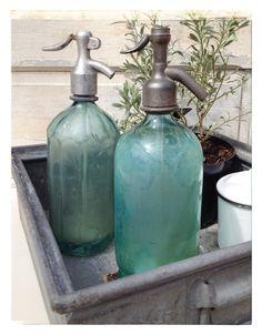 Wunderschöne alte Soda-Flasche / Siphon mintgrün - ein Designerstück von Siripiri bei DaWanda