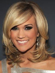 Carrie Underwood hair & makup