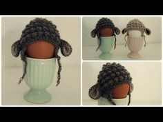 Eierwärmer häkeln * DIY * Crochet Egg Cozy [eng sub] - YouTube