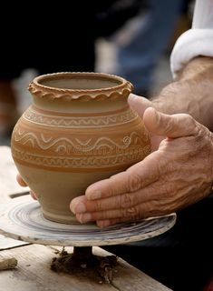 Making traditional pottery. As a demo at a pottery fair in Sibiu - Romania , #affiliate, #pottery, #traditional, #Making, #demo, #Romania #ad