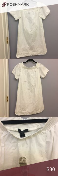 J.Crew NWOT White Off the Shoulder Dress This dress is perfect for the summer! I listed it as NWOT tags, but as you can see from the photos, there are tags on it. I never wore the dress, but accidentally washed it- tags and all! Dress is in perfect condition. J. Crew Dresses Strapless