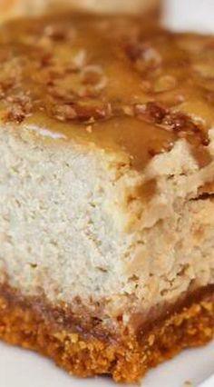 Caramel Latte Cheesecake Squares