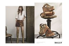 Swiss luxury brand Bally has tapped top model Freja Beha Erichsen as the face of its spring-summer 2015 campaign. Photographed by Fabien Baron, the images juxtapose still portraits of bags and shoes with Freja Beha wearing the new season designs. Discover a behind the scenes video from the spring advertising shoot below.    Related