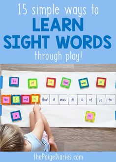 Kids Sight Words, Sight Word Readers, Learning Sight Words, First Grade Sight Words, Dolch Sight Words, Sight Word Practice, Sight Word Activities, Teaching Activities, Alphabet Activities