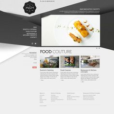 M Catering #website #clean #webdesign #web #catering #food