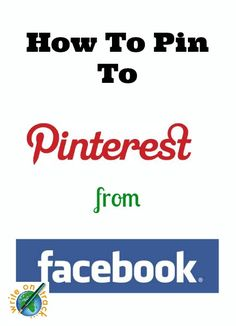 Pinterest tutorial - how to pin to Pinterest from Facebook