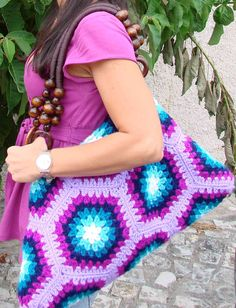 crocheted bag #crochet