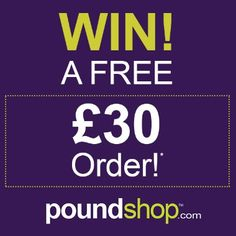 Win a £30 order from Poundshop.com!
