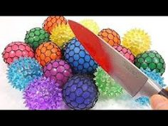 Johny Johny Yes Papa| Knife VS Colors Squishy Slime Rubber Balls Learn Colors Slime Clay 1000 Degree - YouTube