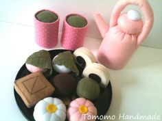 Felt food   Fabulous Japanese cakes & Green tea by TomomoHandmade, $39.50