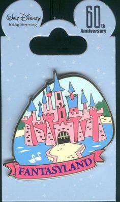 WDI 60th 1950 Decade Fantasyland Sleeping Beauty Castle LE 150 Disney Pin 96048