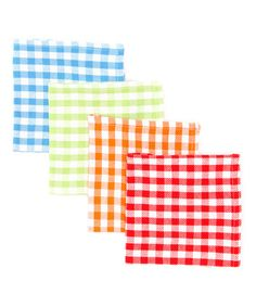 Take a look at this Summer Gingham Dishcloth Set by Design Imports on #zulily today!
