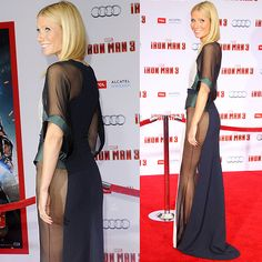 Gwyneth Paltrow at the 'Iron Man 3' Los Angeles premiere held at the El Capitan Theater in Hollywood, California on April 24, 2013