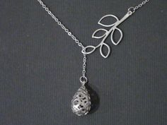 Five Leaf Branch Connector And Tear Drop Pendant16k by JJcreation, $20.00