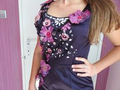 High Fashion Dresses, Fashion Outfits, Formal Cocktail Dress, Denim Handbags, Women's Evening Dresses, Recycled Denim, Flower Dresses, Occasion Dresses, Boho Dress