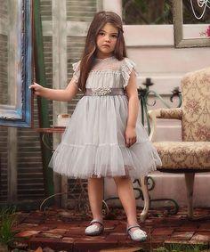 Trish Scully Child Gray Vienna Dress - Toddler & Girls | zulily