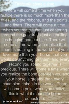horse quotes inspirational | there comes a point horse riding pony horses ponies equine