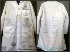 I personalize and illustrate lab coats (sketched example incomplete) based one what the customer wants.  Info@ScienceWear.net for size chart and more information and click on the link to see more examples of my work. What The Customer Wanted, Lab Safety, Lab Coats, Beginning Of School, Size Chart, Science, Link, How To Wear, School Starts