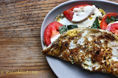 Caprese omelet aka the best thing that has ever happened to eggs.