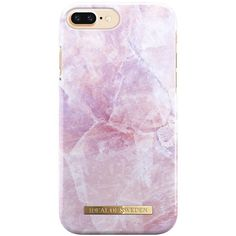Ideal Of Sweden Fashion Case S/S 2017 Iphone 7 Plus Pilion Pink Marble ($40) ❤ liked on Polyvore featuring accessories and tech accessories