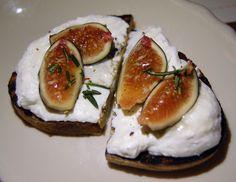 Bruschetta with fresh ricotta and figs at Bar Primi in Manhattan