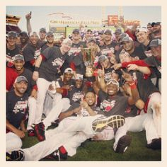 The best kind of team photo. 2012 NL Central Champions.