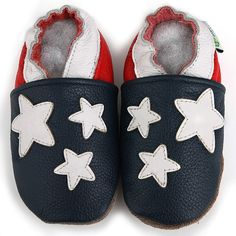 832d087d2f American Flag Soft Sole Leather Baby Shoes