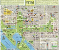 Printable Dc Map.Free Printable Washington Dc Map Showing Us Capitol And Museums