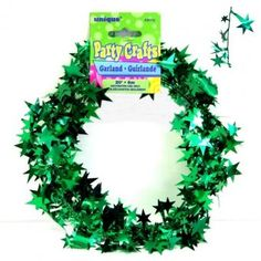 Green Star Wire Christmas Garland - Christmas Decoration Ideas