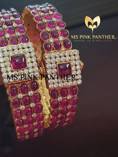 Trends come and go, and style evolves. It's important to have pieces of jewelry that are timeless and look chic despite ever-changing fashions. PC : MS Pink Panther Pay using international debit /cards. CaLL OR WATSAPP at . Jewelry Design Earrings, Ruby Jewelry, Gold Jewellery, Diamond Jewelry, Wedding Jewelry, Jewelery, Ruby Bangles, Gold Bangles, Indian Jewellery Design