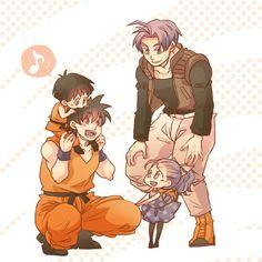 Trunks, Goten, Pan, & Bulla