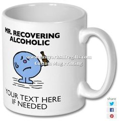 New product 'Mr Recovering Alcoholic Printed Mug' added to East Yorkshire Gifts! - £6.99