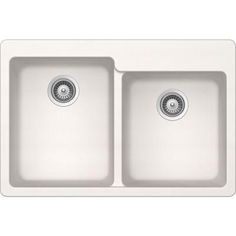 Buy Here: http://thd.co/1K2Hiwm SCHOCK ALIVE CRISTADUR ALIN175T099 Topmount Granite Composite 33 in. 0-Hole 60/40 Double Bowl Kitchen Sink in Polaris #kitchensink #kitchensinks #kitchen #sinks #schock #granitesink