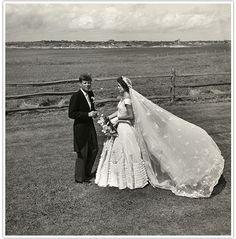 Wedding Portrait of John and Jackie Kennedy