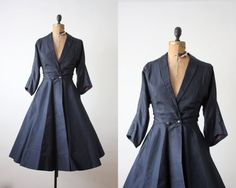 1950's coat - 50s princess coat. $335.00, via Etsy.