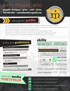 Erin Maioriello 2013 Resume/CV on Behance