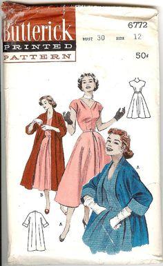 50's Butterick Sewing Pattern