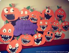 Doodle Bugs Teaching {first grade rocks!}: Silly Jack-o-lanterns
