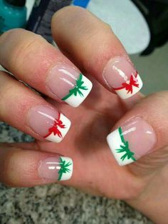 Xmas manicure idea - Xmas Bows