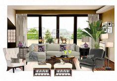 contempory living room  create your own rooms on this awesome website!