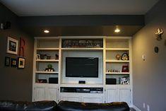 Built in TV Unit - http://creativeraisins.blogspot.com/2011/10/man-room-built-in-tv-unit.html