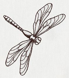 Embroidery Designs To Trace Embroidery Template Letters Dragonfly Drawing, Dragonfly Images, Dragonfly Painting, Dragonfly Art, Dragonfly Tattoo, Thread Painting, Baby Dragonfly, Embroidery Designs, Vintage Embroidery