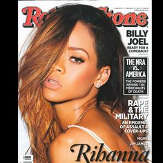 Rihanna Talks Chris Brown to 'Rolling Stone'! Rihanna gives a sexy stare on the cover of Rolling Stone's latest issue, hitting newsstands on Friday (February Here's what the entertainer… Beyonce, Rihanna Cover, Rihanna Fenty, Rihanna Blonde, Rihanna Makeup, Billy Joel, Chris Brown, The Rolling Stones, Entertainment