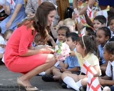 The Duchess of Cambridge visited Blessed Sacrament School in Islington, North London  7/1/2014.