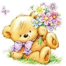 Florynda del Sol ღ☀¨✿ ¸.ღ ♥Marina Fedotova♥ Anche gli Orsetti hanno un'anima…♥ Cute Teddy Bear Pics, Teddy Bear Pictures, Bear Images, Cute Bears, Cute Animal Drawings, Cute Drawings, Cute Images, Cute Pictures, Cute Baby Wallpaper