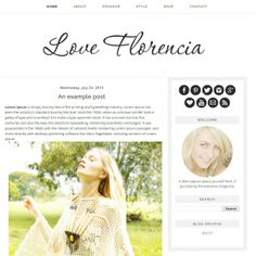 Florencia - Premade Blogger Template - Luvly Marketplace | Premium Design Resources #blogger #template