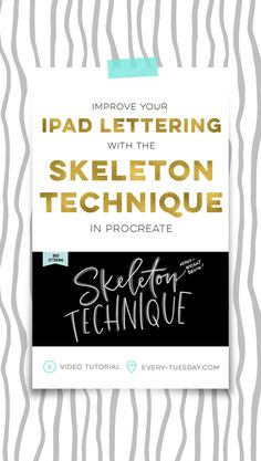 Improve your ipad lettering with the skeleton technique and a mono weight brush in Procreate   video tutorial: every-tuesday.com via @teelac