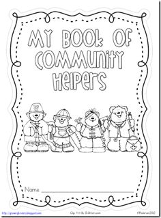 FREE! Cute printable booklet for community helpers...fill in the circles with information on each.